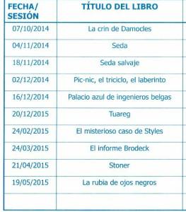 Listado de libros 2014-2015