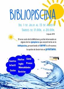 Cartel bibliopiscina