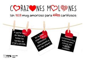 Cartel corazones molones